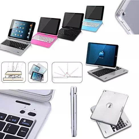 iPad Air or Mini Swiveling Hard Case With Bluetooth Keyboard - VistaShops - 2
