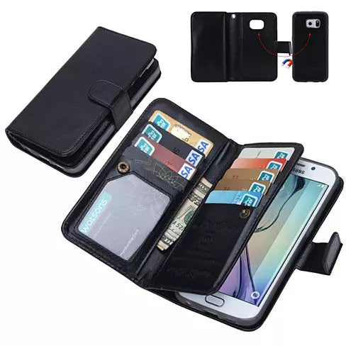 iPhone 6/6 Plus and Samsung Smartphone Removable Wallet Case with Wristlet - VistaShops - 4