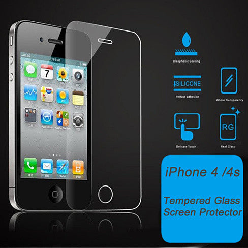 iphone 4s screen protector iphone 4 4s amp 5 5s 5c glass screen protector vistashops 14449