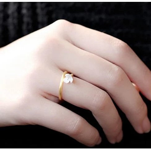 Just Be Mine Roman Gold Antique Ring on Sterling Silver - VistaShops - 4