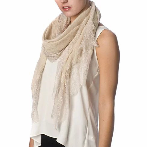 Dream Day Lace Border Scarf - VistaShops - 1