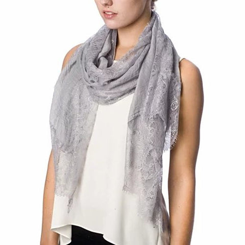 Dream Day Lace Border Scarf - VistaShops - 2
