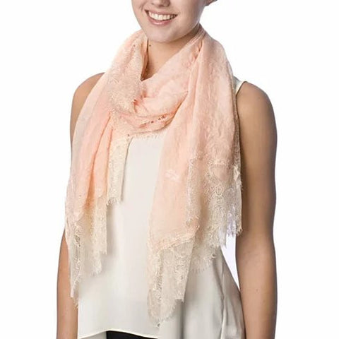Dream Day Lace Border Scarf - VistaShops - 3
