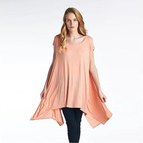 Butterfly Whisper Light Flowy Relaxed fit Round Neck Top Made in USA - VistaShops - 2