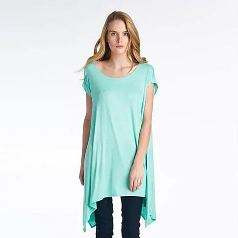 Butterfly Whisper Light Flowy Relaxed fit Round Neck Top Made in USA - VistaShops - 3