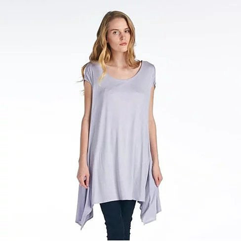 Butterfly Whisper Light Flowy Relaxed fit Round Neck Top Made in USA - VistaShops - 4
