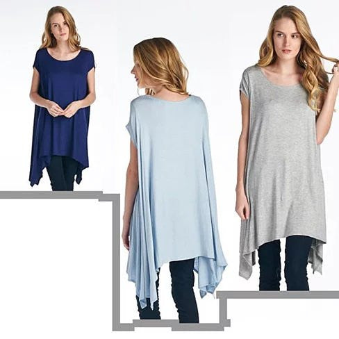 Butterfly Whisper Light Flowy Relaxed fit Round Neck Top Made in USA - VistaShops - 5