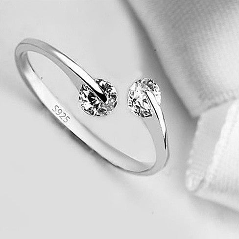 shopify-Match Made In Heaven - Two Diamonds have come together on a Sterling Silver Ring-1