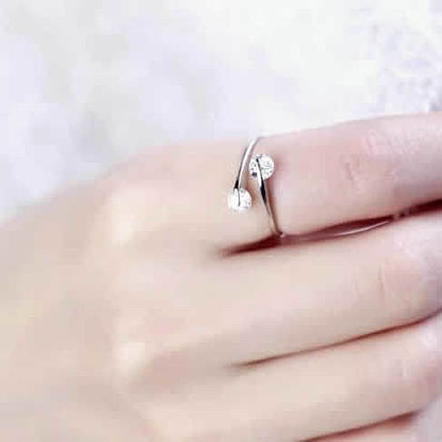 Match Made In Heaven - Two Diamonds have come together on a Sterling Silver Ring - VistaShops - 4