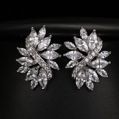 Marvelous Marquis Cut Statement Stud Earrings