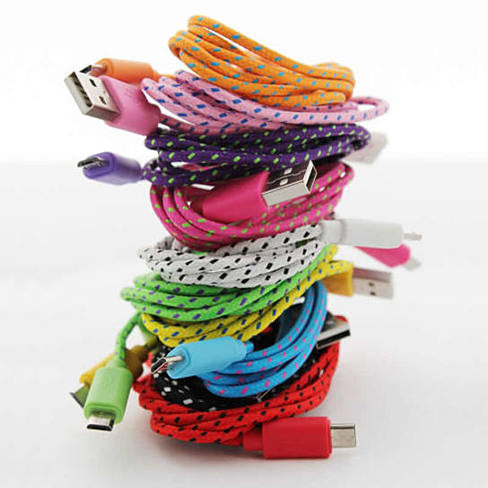 MICRO USB 10ft Braided Nylon Super Strong - BUY 2 GET 1 FREE - VistaShops - 1