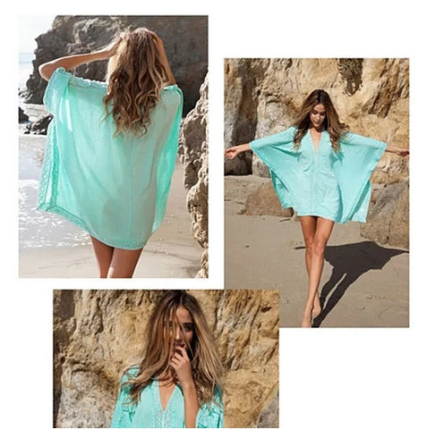 Caribbean Caftan Cover Up - VistaShops - 2