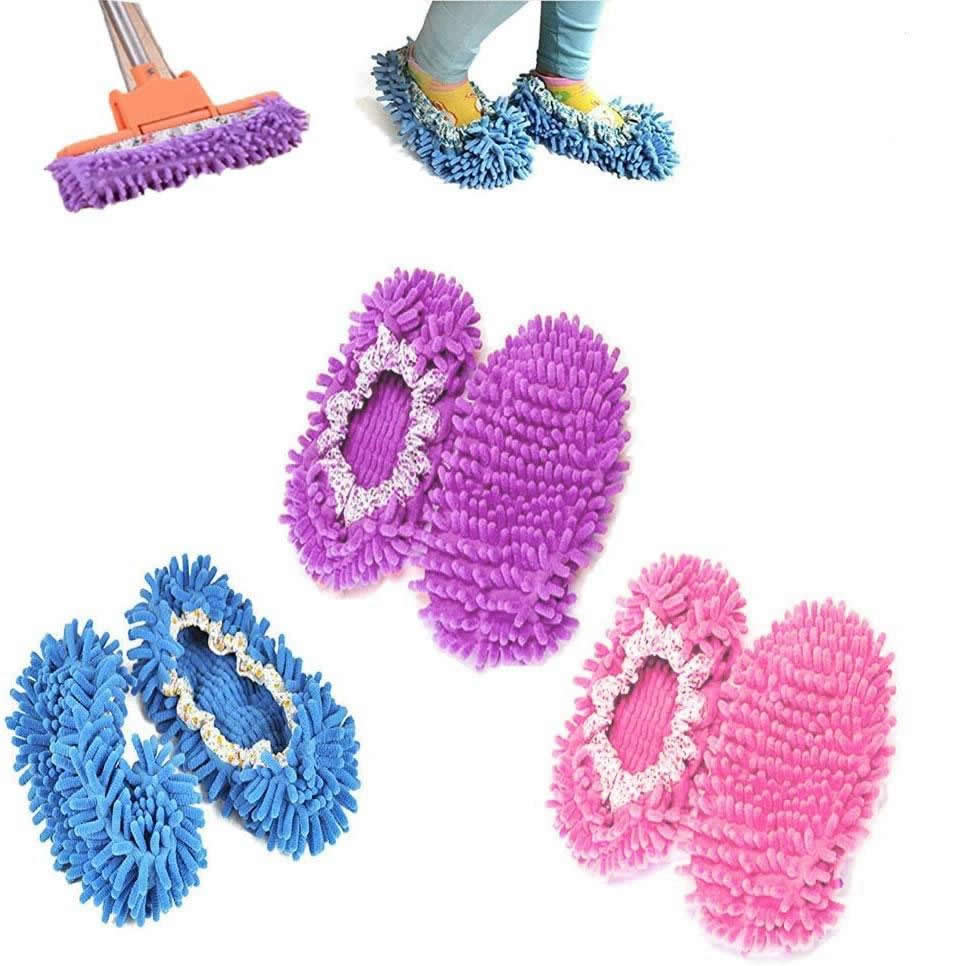 shopify-Lazy Maid Quick Mop Slip-On Slippers 3 prs / 6 pcs-1