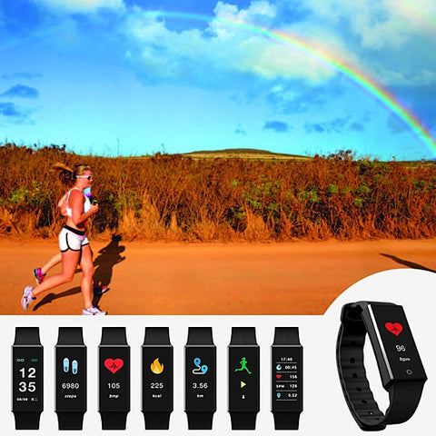 Rainbow OLED Screen Smart Fit Health Monitoring And Activity Tracker Watch