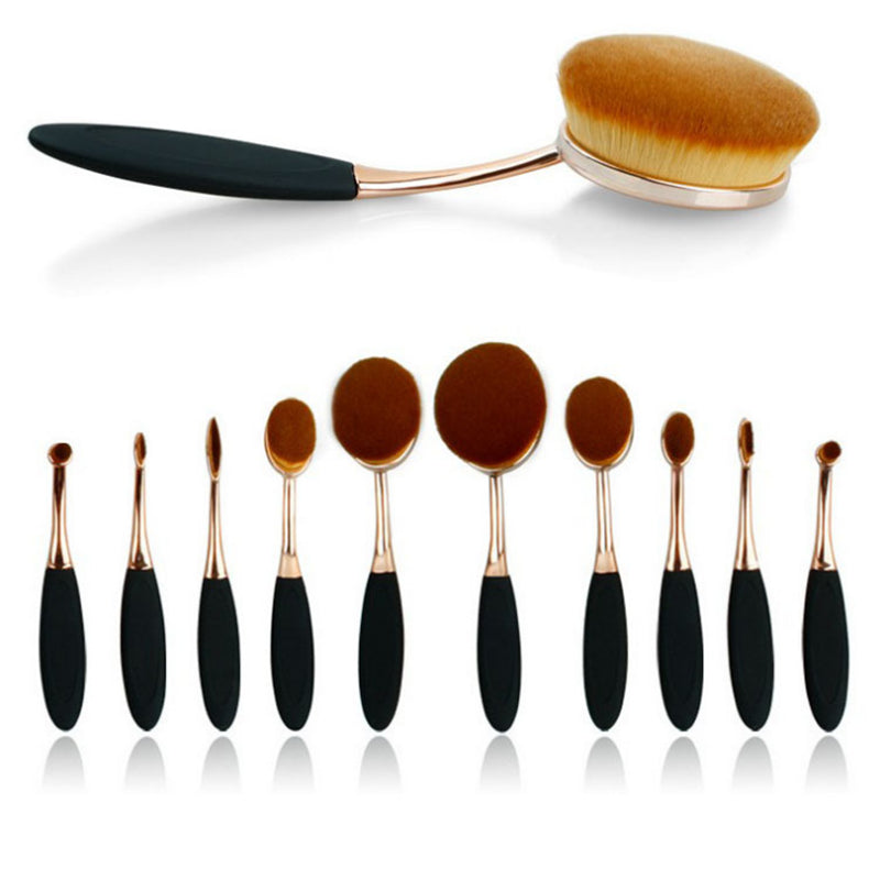 Beauty Experts Set of 10 Oval Beauty Brushes