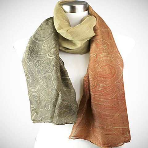 Pretty in Persia - The Paisley Scarves - VistaShops - 3