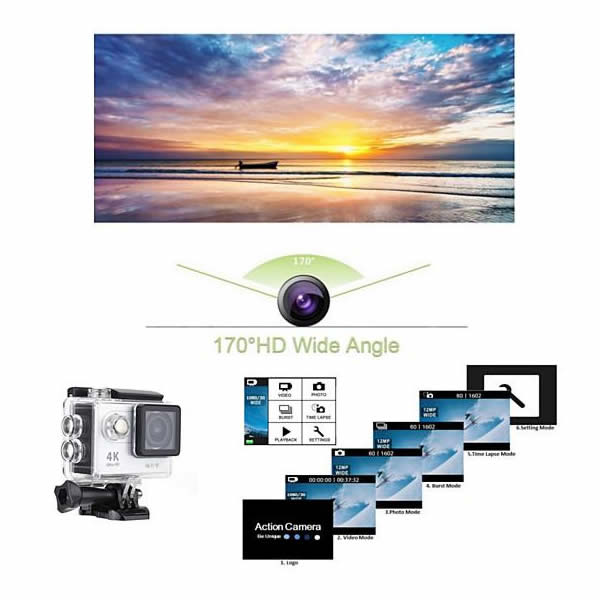 shopify-4K Action Pro Waterproof All Digital UHD WiFi Camera + RF Remote And Accessories-5