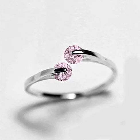 Match Made in Heaven Rings in Rose Gold and Pink Diamond Crystals - VistaShops - 1