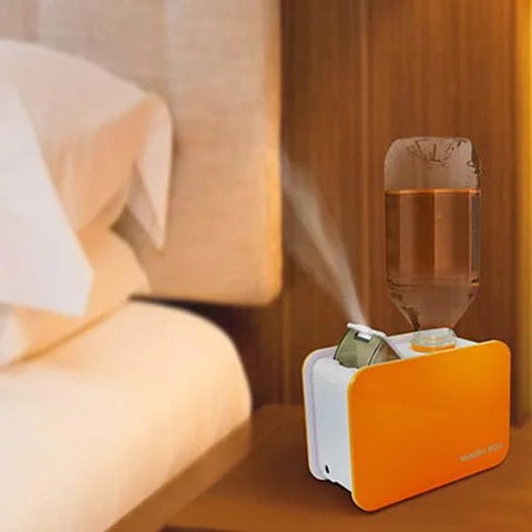 Portable Table Top Humidifier works with ordinary water bottle