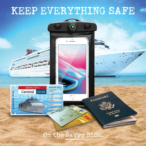AQUA POUCH - Waterproof Pouch for your Smartphone and your Essentials 2 - Pak