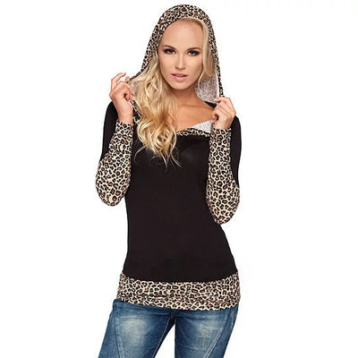 Leopard Lady Hooded Top