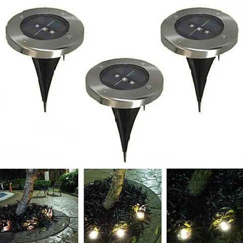 Runway Solar 3 LED Inground Lights