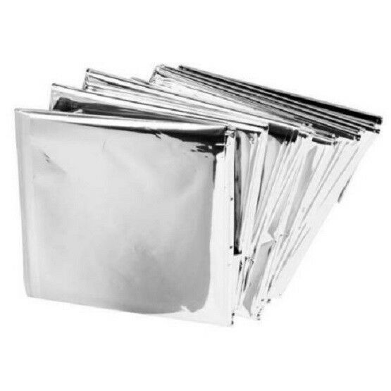 8 Pack  Emergency Survival  BLANKET Thermal Insulating Mylar Heat