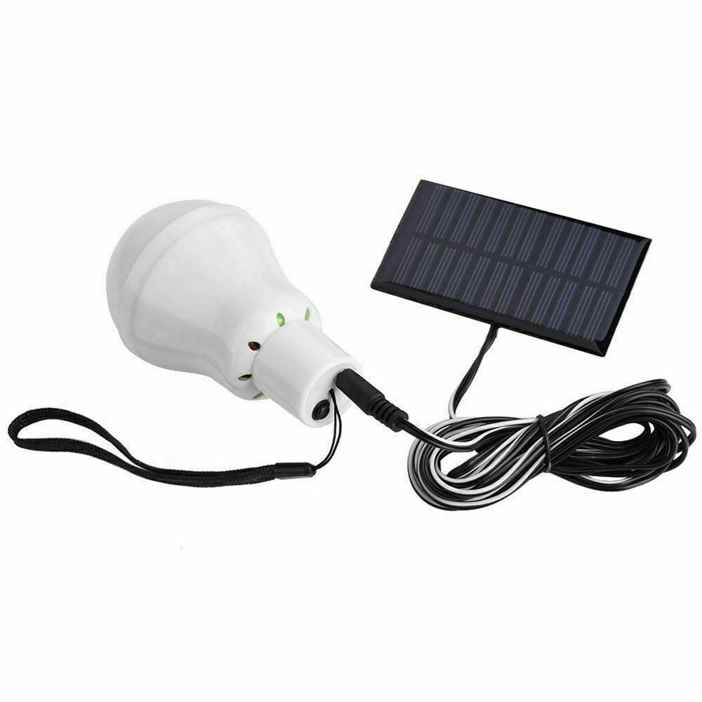 Solar Powered Panel LED Lighting System Lights 15W Portable Bulb Outdoor Indoor