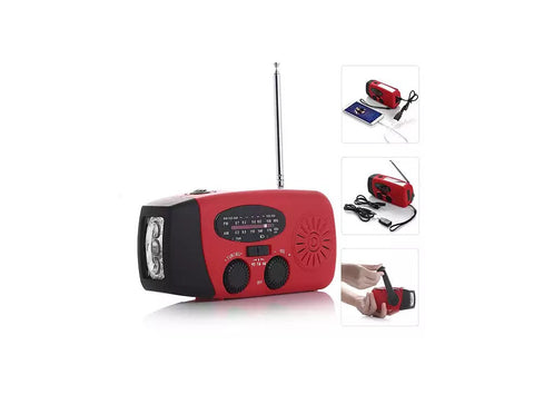 StormSafe Emergency Phone Charger with Flashlight and Weather Radio + FM- No Batteries Required