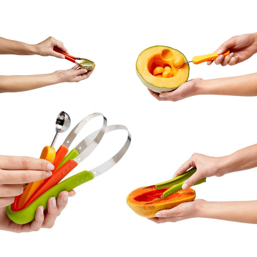 SUPER SCOOPER Your 3 In 1 Fruit Scooper & Melon Baller