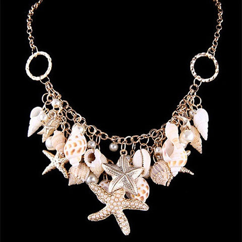 Sweet Nature Necklace With Sea Shells