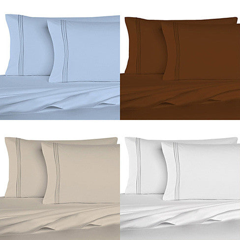 The Good Living Super Cool Micro Fiber Bed Sheets Set of 6 - VistaShops - 3