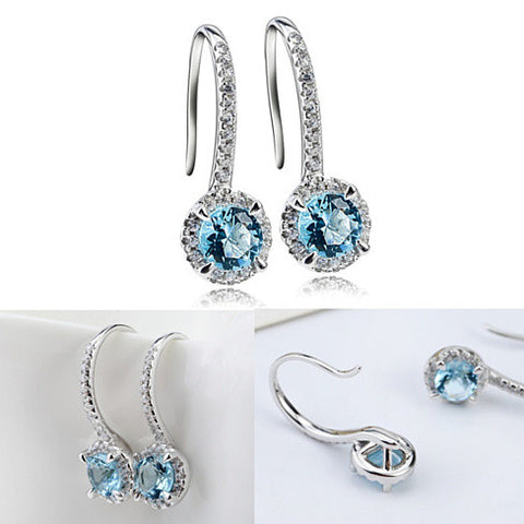 Silver Spell Jewels - The Created Diamond Earrings - VistaShops - 2
