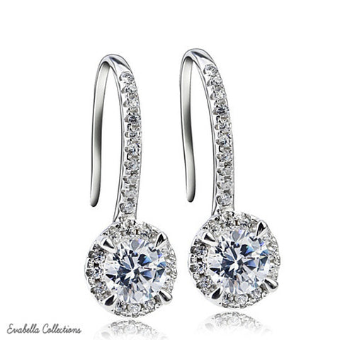 Silver Spell Jewels - The Created Diamond Earrings - VistaShops - 3