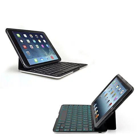 Slimmest Backlit iPad 2/3/4, Air 1/2 and Mini Hard Shell Case with Bluetooth Keyboard - VistaShops - 1