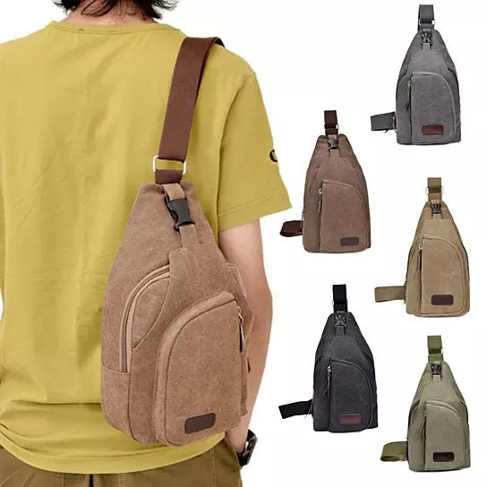 shopify-Sling Cling Cotton Canvas Messenger Bag in 5 Colors-1