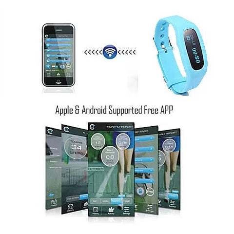 SLIM SMART FIT & Bluetooth Call Alert Health Monitor Watch Plus Extra Free Band - VistaShops - 5