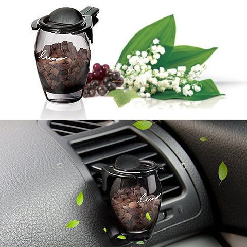 Fragrance Jar For The Car With Aromatic Stones