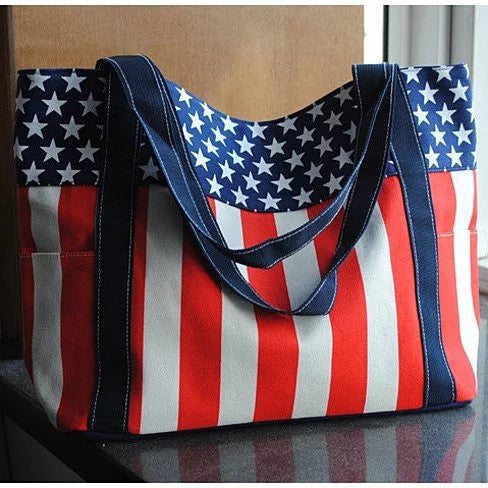 Star Spangled Canvas Bag - VistaShops - 1