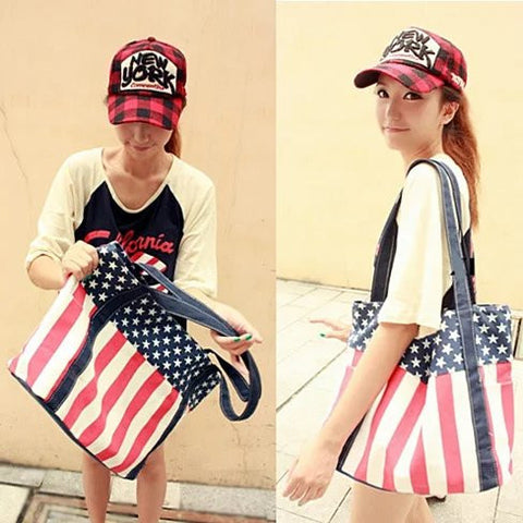 Star Spangled Canvas Bag - VistaShops - 2