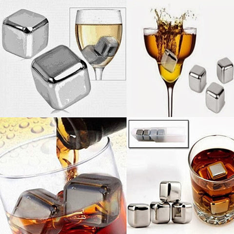 Steel Chillers - The Stainless Steel Food Grade Ice Cubes for Cocktails - VistaShops - 2