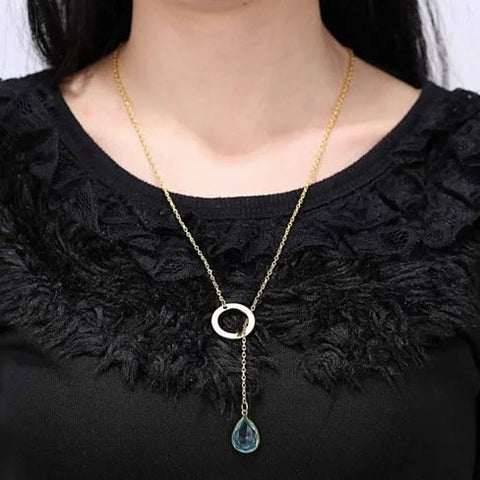 Lucky Luminous Crystal Lariat style Necklace - VistaShops - 3