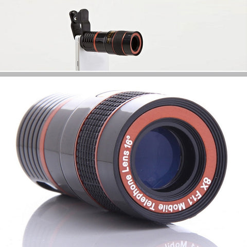 Telephoto PRO Clear Image Lens Zooms 8 times closer! For all Smart Phones & Tablets with Camera