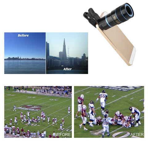 Telephoto PRO Clear Image Lens Zooms 8 times closer! For all Smart Phones & Tablets with Camera - VistaShops - 4