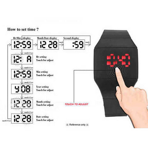 The FACE OFF LED Watch - Plain and simple it's about time ! - VistaShops - 4