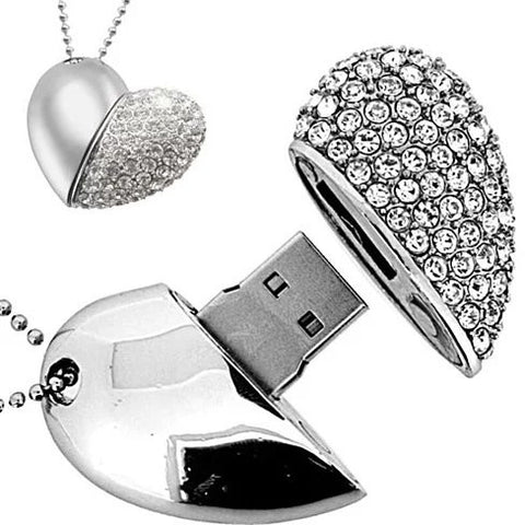 The Love Connection - Heart Shaped 32 GB USB Drive - VistaShops - 1