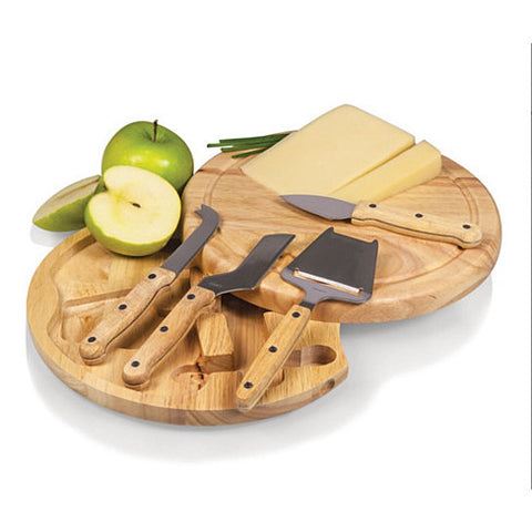 The Moonscape Wooden Cheese Board and Tools