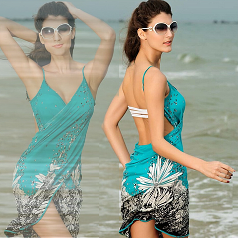 Tropical Beach Wrap - VistaShops - 2