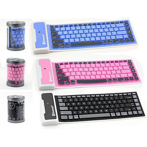 Type out of a BOX with Flexible silicone bluetooth keyboard - VistaShops