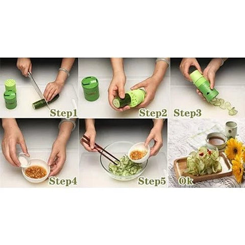 VEGGIE MAGICAL SLICER and Salad Decorator - VistaShops - 3